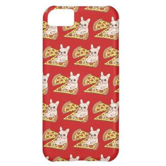 Capa Para iPhone 5C Frenchie de creme convida-o a seu partido da pizza