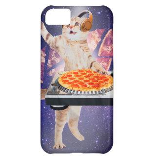 Capa Para iPhone 5C gato do DJ - gato DJ - gato do espaço - pizza do