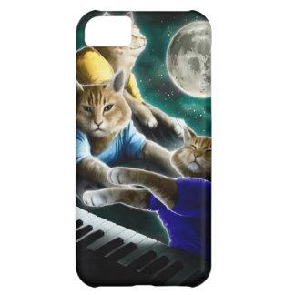 Capa Para iPhone 5C gato do teclado - música do gato - memes do gato