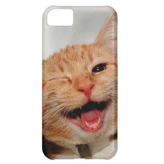 Capa Para iPhone 5C Gato que pisc - gato alaranjado - gatos engraçados