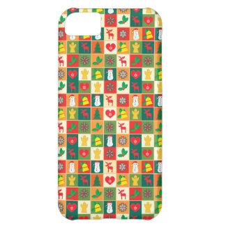 Capa Para iPhone 5C Grande teste padrão do Natal