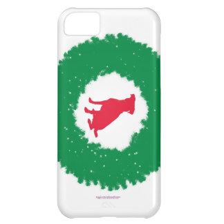 Capa Para iPhone 5C Grinalda flexível do Natal das orelhas do cão -