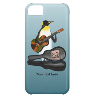 Capa Para iPhone 5C Guitarra da reggae do rei pinguim