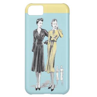 Capa Para iPhone 5C Impressão do desenhador de moda do vintage das