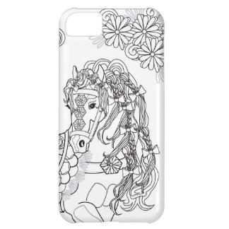 Capa Para iPhone 5C iPhone Prancing 5C do cavalo da margarida