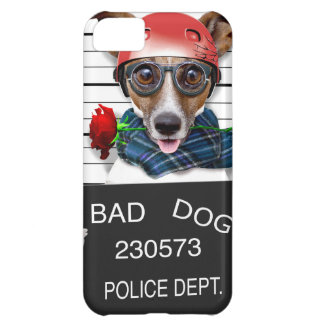 Capa Para iPhone 5C Jaque engraçado russell, cão do Mugshot