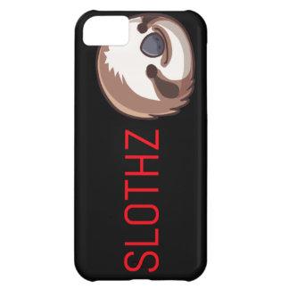 Capa Para iPhone 5C Letras pretas do vermelho do caso da preguiça