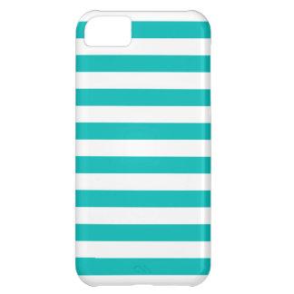 Capa Para iPhone 5C Listras horizontais do Aqua