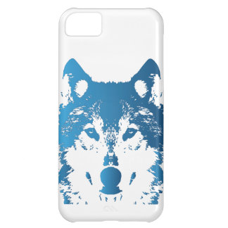 Capa Para iPhone 5C Lobo do azul de gelo da ilustração
