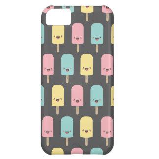 Capa Para iPhone 5C Lollies de gelo felizes de Kawaii do divertimento