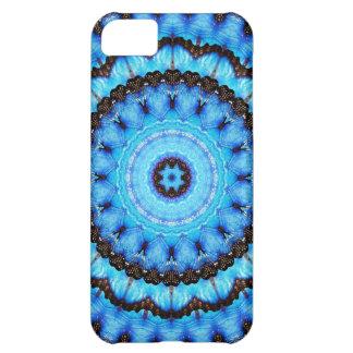 Capa Para iPhone 5C Mandala do azul da borboleta