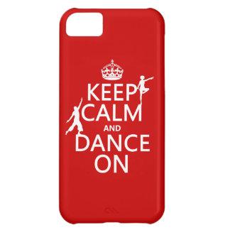 Capa Para iPhone 5C Mantenha a calma e dance em (em todas as cores)