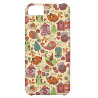 Capa Para iPhone 5C Mão colorida abstrata design floral tirado do