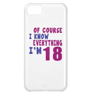 Capa Para iPhone 5C Naturalmente eu sei que tudo eu sou 18