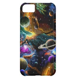Capa Para iPhone 5C Nebulosa e planetas galácticos