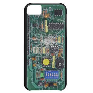 Capa Para iPhone 5C O conselho de circuito de vidro quebrado