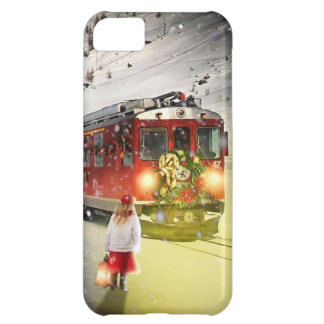 Capa Para iPhone 5C O papai noel expresso do Pólo Norte - trem do