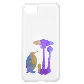 Capa Para iPhone 5C O pinguim e o cogumelo