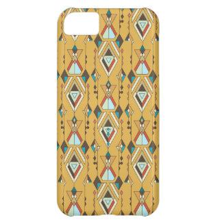 Capa Para iPhone 5C Ornamento asteca tribal étnico do vintage