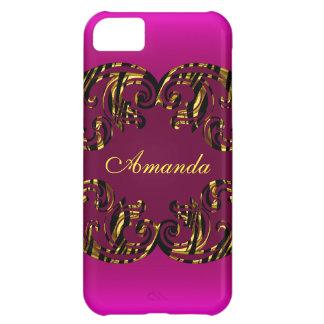 Capa Para iPhone 5C Ouro do rosa do caso Iphone5