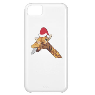 Capa Para iPhone 5C Papai noel do Natal do girafa