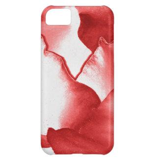 Capa Para iPhone 5C Pétalas vermelhas da flor