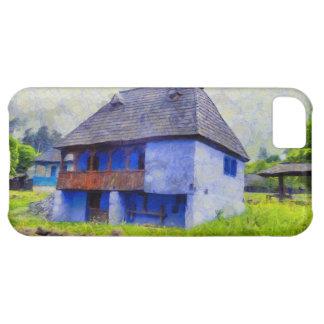 Capa Para iPhone 5C Pintura de casa azul