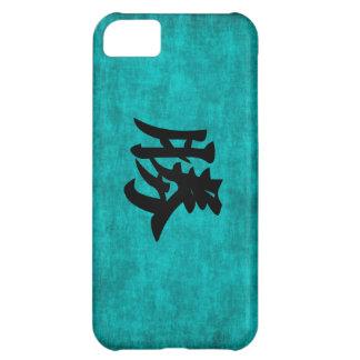 Capa Para iPhone 5C Pintura do caráter chinês para o sucesso no azul