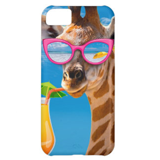Capa Para iPhone 5C Praia do girafa - girafa engraçado