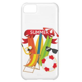 Capa Para iPhone 5C Praia Watersports do verão