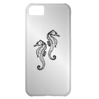 Capa Para iPhone 5C Prata do cavalo marinho