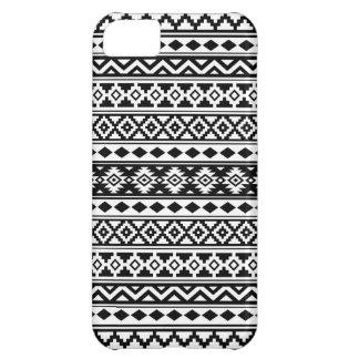 Capa Para iPhone 5C Preto & branco astecas de IIb do teste padrão da
