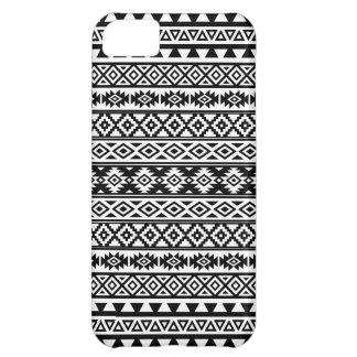 Capa Para iPhone 5C Preto & branco estilizados astecas do teste padrão