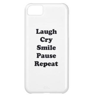 Capa Para iPhone 5C Repetição do riso