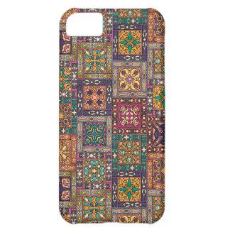 Capa Para iPhone 5C Retalhos do vintage com elementos florais da