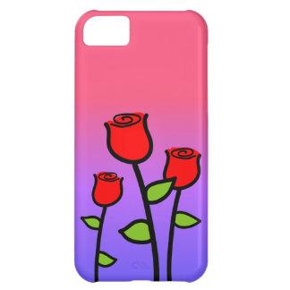 Capa Para iPhone 5C Rosas vermelhas