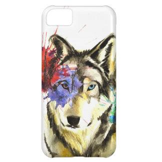 Capa Para iPhone 5C Splatter do lobo