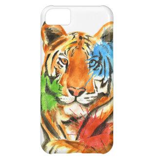 Capa Para iPhone 5C Splatter do tigre