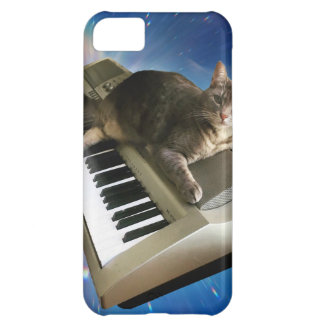 Capa Para iPhone 5C teclado do gato
