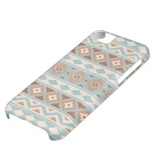 Capa Para iPhone 5C Terracottas de creme azuis astecas de Ptn IIIb da