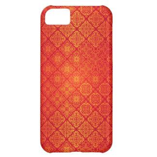 Capa Para iPhone 5C Teste padrão antigo real luxuoso floral