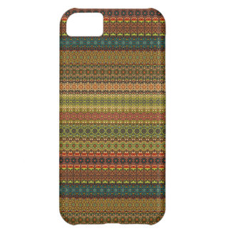 Capa Para iPhone 5C Teste padrão asteca tribal do vintage