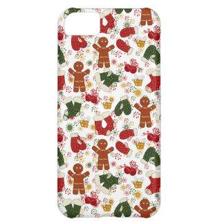 Capa Para iPhone 5C Teste padrão do pão-de-espécie do feriado