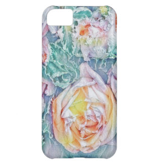 Capa Para iPhone 5C Teste padrão floral da arte
