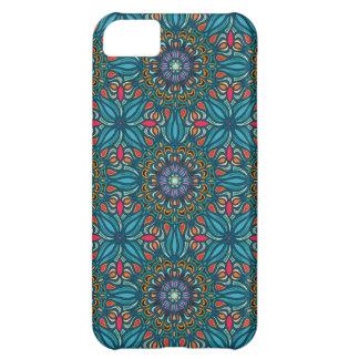 Capa Para iPhone 5C Teste padrão floral étnico abstrato colorido da