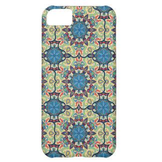 Capa Para iPhone 5C Teste padrão floral étnico abstrato colorido de da