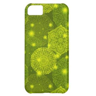 Capa Para iPhone 5C Teste padrão luxuoso floral da mandala