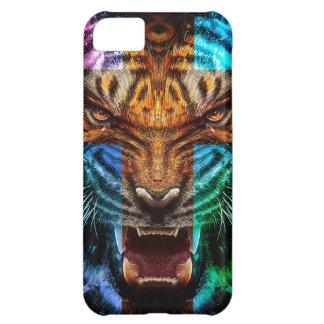 Capa Para iPhone 5C Tigre transversal - tigre irritado - cara do tigre