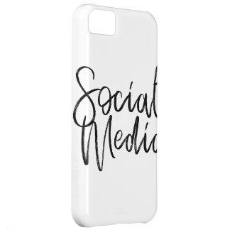 Capa Para iPhone 5C Tipografia social dos amantes dos meios