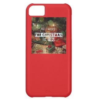 Capa Para iPhone 5C Tudo que eu quero para o caso do iphone 5 do Natal